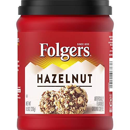 Folgers Flavours Hazelnut Ground Coffee 326g 11.5oz (1 PACK)