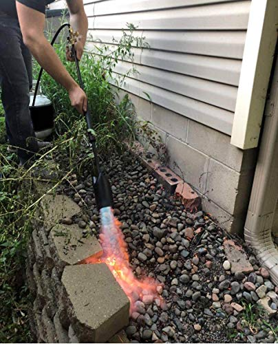 MR VOLCANO Outdoor Torch Weed Burner with Extra Long Hose (12ft) fits Regular Propane Tank! Very High Output!