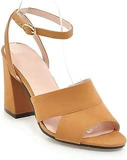 Women's Fashion Slip-On Block Heel Sandals Open Toe Backless Ankle Strap Chunky Heel Dress Shoes