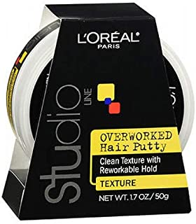 Loreal Studio Putty Overworked 1.7 Ounce (50ml) (6 Pack)