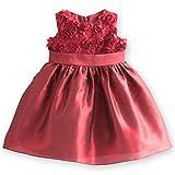 [キャサリンコテージ]子供ドレス ローズパーティー ベビードレス PC448DR 80cm レッド TAK