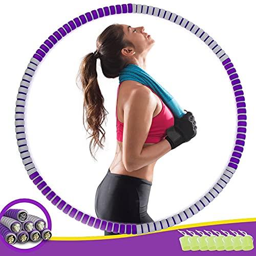 Hula Hoop Reifen, Hula Hoop für Erwachsene & Kinder zur Gewichtsabnahme und Massage, EIN 8-Teiliger Abnehmbarer Hula-Hoop-Reifen für Fitness/Training/Büro oder Bauchmuskelkonturen