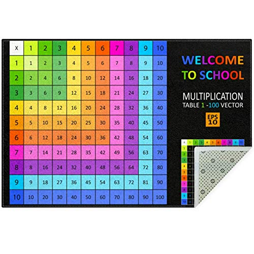Bennigiry Multiplication Table Area Rugs Rug Mat Carpet for Living Room Bedroom Playing Room Carpets,60'x39'