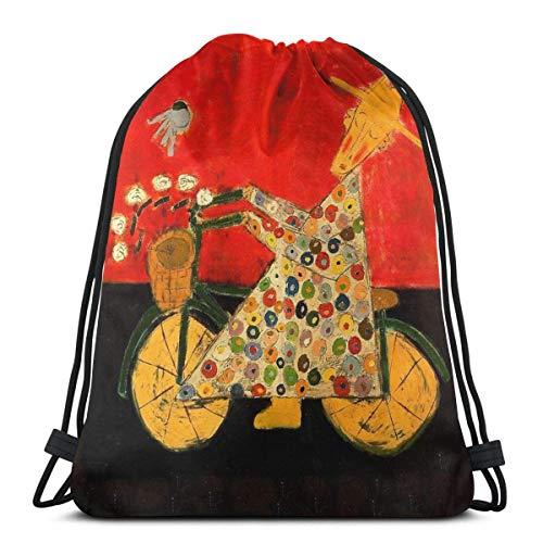 Fahrrad Mönch und Bluebird wasserdicht Faltbare Sport Sackpack Sporttasche Sack Kordelzug Rucksack