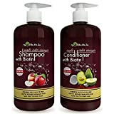 Vita A to Zee Apple Cider Vinegar Shampoo & Avocado Coconut Conditioner (2 x 16.9 fl oz) | Hair Thinning and Restores Shine | Reduces Itchy Scalp, Dandruff, Hair Loss | Moisturize & Remove Build-up