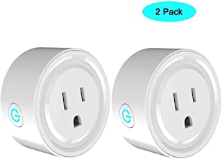 WiFi Smart Plug Outlet JCBritw Mini Power Socket Outlet Timer Digital Echo Switches Remote Control, Compatible with Alexa Echo Dot Works with Google Assistant, No Hub Required