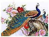 Bordado De Diamantes Redondos Completos Pavo Real Oriental 5D Diy Pintura De Diamantes Punto De Cruz Mosaico Arte Imagen Regalo De Navidad 50X60Cm