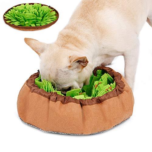 Hifrenchies Dog Snuffle Mat Pet Slow Feeding Training Mat,Snuffle Mat for Frenchie, French Bulldog Activity Training Mat for Foraging Skills, Stress Release,Play,IQ Development (Green Bowl)