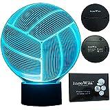 InnoWill Volleyball Lampe Geschenke USB und batteriebetriebene 7Colors