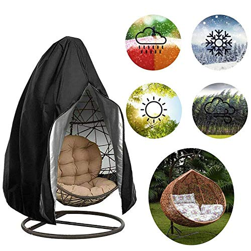 Liu Egg Swing Chair Cover Waterproof Hanging Chair Covers Outdoor,With Zipper Drawstring For Rattan Furniture, Patio