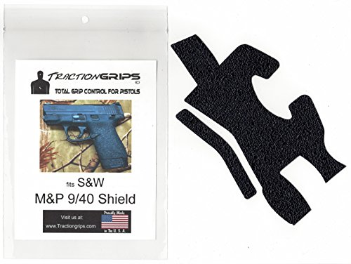 Tractiongrips Rubber Grip Tape Overlay for S&W M&P Shield 9mm.40 Pistols
