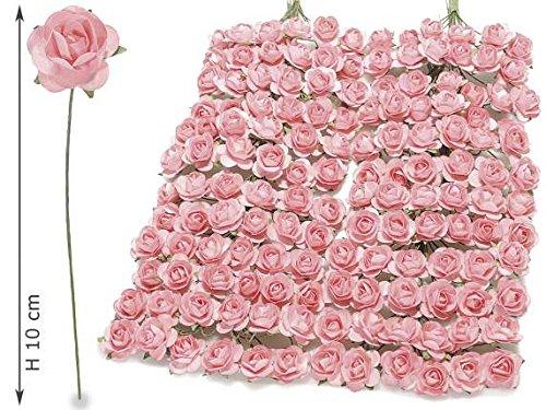 Ideapiu 144 Rosellina Artificiale in Carta Rosa per bomboniera