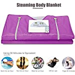 ETE ETMATE 2 Zone Digital Far-Infrared (FIR) Oxford Sauna Blanket, Upgraded Version Zipper Type Weight Loss Body Shaper Professional Detox Therapy Anti Ageing Beauty Machine(Purple)
