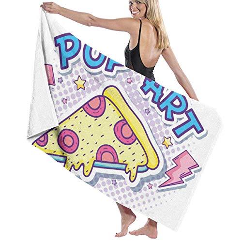 Pizza Pop 100% poliéster toalla de playa silla gruesa suave de secado rápido ligero absorbente toalla manta 32 x 52 pulgadas