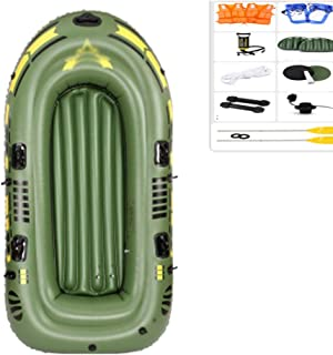 Inflatable Kayak, Canoe Kyaks Inflatable Fishing Boats Sea Kayak Set, with Paddle, High Stability, Safe and Wear Resistant...