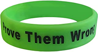 We Keep You Motivated Silicone Motivational Wristbands with Inspirational Messages for Gym, Fitness, Sports, Work, Life (W...