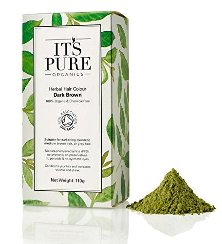Organic Hair Dye - It's Pure Organics Herbal Hair Colour Dark Brow