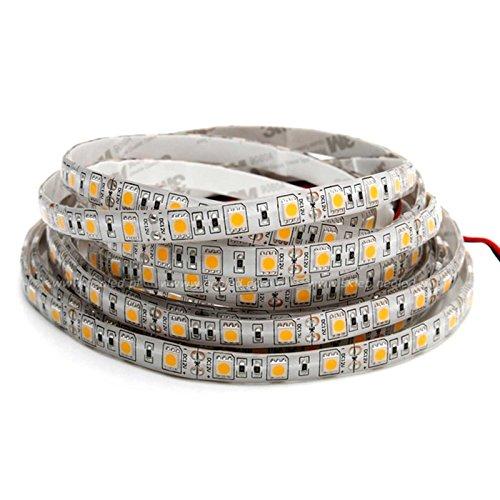 2 Meter Feuchtraum LED Streifen Stripe SMD IP65 für nasse Räume 4,8W/m 3000K warmweiß verlängerbar und alle 5cm kürzbar
