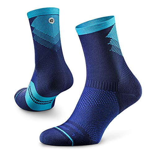 Rockay Razer Trail Running Socks for Men and Women, Cushion, Crew Cut, Arch Support, 100% Recycled,...
