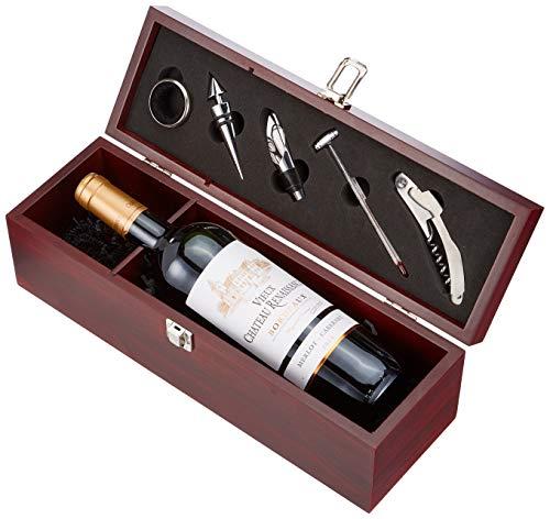 Geschenkset Weinset Vieux Chateau Renaissance Bordeaux AOC Merlot-Cabernet trocken mit Holzkiste Cuvée (1 x 0.75 l)