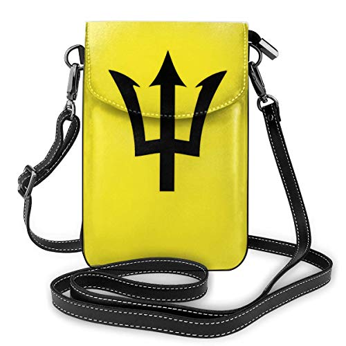 IUBBKI Barbados State Logo Leather Phone Purse Multicolor Cell Phone Pouch Wallet Crossbody Shoulder Bag Key Holder