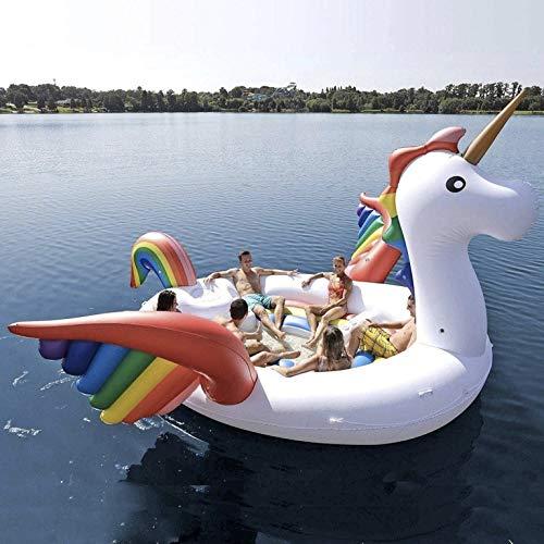 Bestway, Otto Simon Party Bundle - Unicornio Hinchable Gigante para 6 Personas, Isla Fiesta + Unicornio natación Animal para 1 Persona + Posavasos Hinchable Unicornio