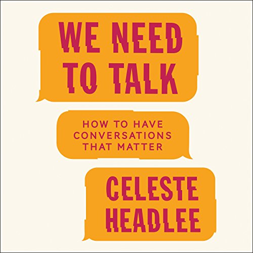 We Need to Talk audiobook cover art