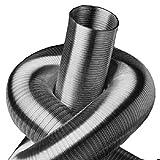 Alu tubo flexible de 5 M 63 mm forrado de, Alu de ventilación de tubo de 5 M 63 mm manguera de Alu-Flex-tubo de Alu del tubo de ventilación