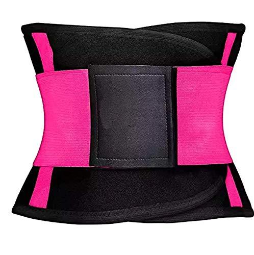 Hot Sports Workout Slim Taille Support Trainer Belt Trimmer für Damen und Herren – Sport Bauchgürtel Bauchfett Brenner, Rose, Medium