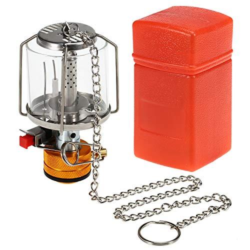 Lixada Portable Camping Gas Stove Lantern Piezo Ignition Mini Gas Tent Lamp Light