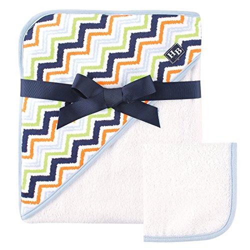 Hudson bébé Impression tissé Serviette à capuche et gant de toilette