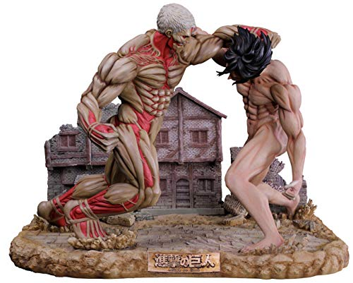 進撃の巨人 エレン vs 鎧の巨人 ポリレジン 超大型ジオラマ 塗装済み 完成品 フィギュア