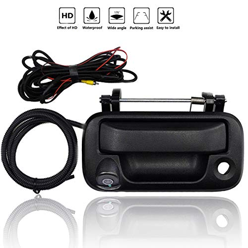 Tailgate Handle Backup Camera for Ford F-150 F-250 F-350 F-450 F-550 2005-2016, 170° Wide Angle HD Night Vision Waterproof, Replacement Tailgate Rear View Reverse Safty Cameras w/Extension Cable