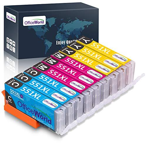 OfficeWorld Ersatz für Canon CLI-551 CLI-551XL Cyan Magenta Gelb Druckerpatronen Hohe Kapazität Kompatibel für Canon Pixma MX925 iP7250 MG5550 MG5650 MX725 iX6850 MX920 MG6650 MG6450 MG5450 iP7200