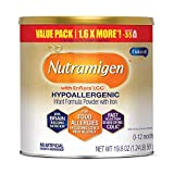 Nutramigen Hypoallergenic Baby Formula from Enfamil- Lactose Free Milk Powder, 19.8 ounce - Omega 3 DHA, Probiotics for Digestive Health & Immune System, Iron