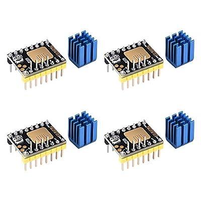 BIQU DIRECT3DPrinterPartUltra-SilenceStepperMotorDriver TMC2130V3.0withHeatSinkforSKRV1.3MKSGENL Ramps1.6/1.5ControlBoard (Step/Dir Mode)