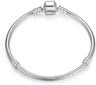 Aituo 18 - 20 cm, braccialetto in argento in stile Pandora, per charm