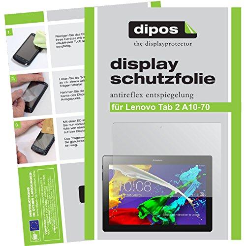 dipos I 2X Schutzfolie matt kompatibel mit Lenovo Tab 2 A10-70 Folie Bildschirmschutzfolie