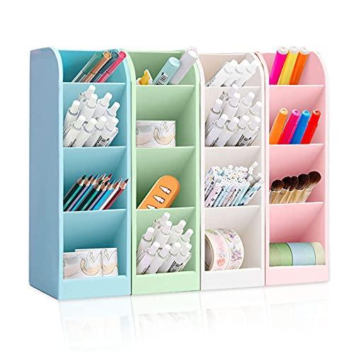 4 portalápices organizadores de escritorio, portalápices, caja de almacenamiento para lápices, organizador de pinceles de oficina, escritorio multifuncional
