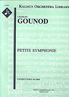 Charles Gounod Petite Symphonie For One Flute, Two Oboes, Two Clarinets, Two Horns and Two Bassoons - Conductor's Score (Kalmus Orchestra Library)