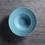 W-SHTAO L-WSWS Cerámica Ins Paja Cubiertos Simple Desayuno Occidental Sopa de Placa de los Cubiertos 9'