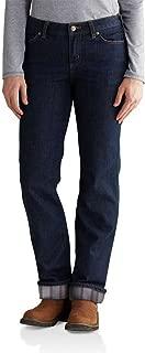 Carhartt Women's 102729 Women's Blaine Flannel Lined Original Fit Jean - 6W x Regular - Midnight Sky/Gray