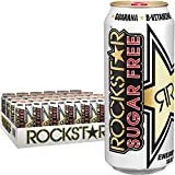 Rockstar Energy Drink Sugar-Free Energy Drink, 16 Fluid Ounce (Pack of 24)