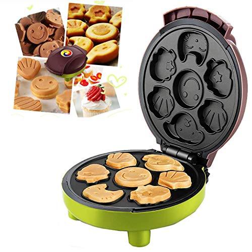 Máquina de Magdalenas Gofrera Antiadherente para Niños Desayuno 1000W, Maquina de Hacer Muffins Cupcakes de Dibujos Animados Eléctrica,20x24x10CM-negro