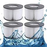 MIBNCE Lot de 4 cartouches filtrantes de rechange pour MSpa Whirlpool - Filtre à eau - Pompe à cartouche pour sous-marine et spa chauds - Version améliorée 2020 pour tous les modèles MSpa