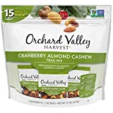 ORCHARD VALLEY HARVEST Cranberry Almond Cashew Trail Mix, 1 oz (Pack of 15), Non-GMO, No A...