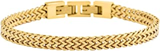 Best stainless steel and gold bracelet Reviews