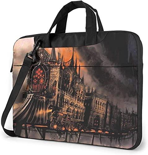 Laptop Shoulder Bag,Old Train Shockproof Laptop Sleeve Cover Business Messenger Bag Briefcase Handbag Case 15.6 inch