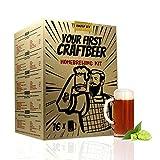 | Kit de extracto para hacer cerveza Amber Ale | Tu primera cerveza casera | 8 litros | Incluye densímetro | Elabora cerveza...