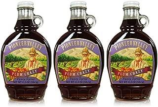 Pioneer Valley Gourmet Plum Crazy Fancy Syrup (11.5oz.) - 3 Pack